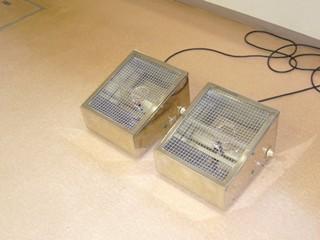 紫外線によって水虫を治療する機器です。
